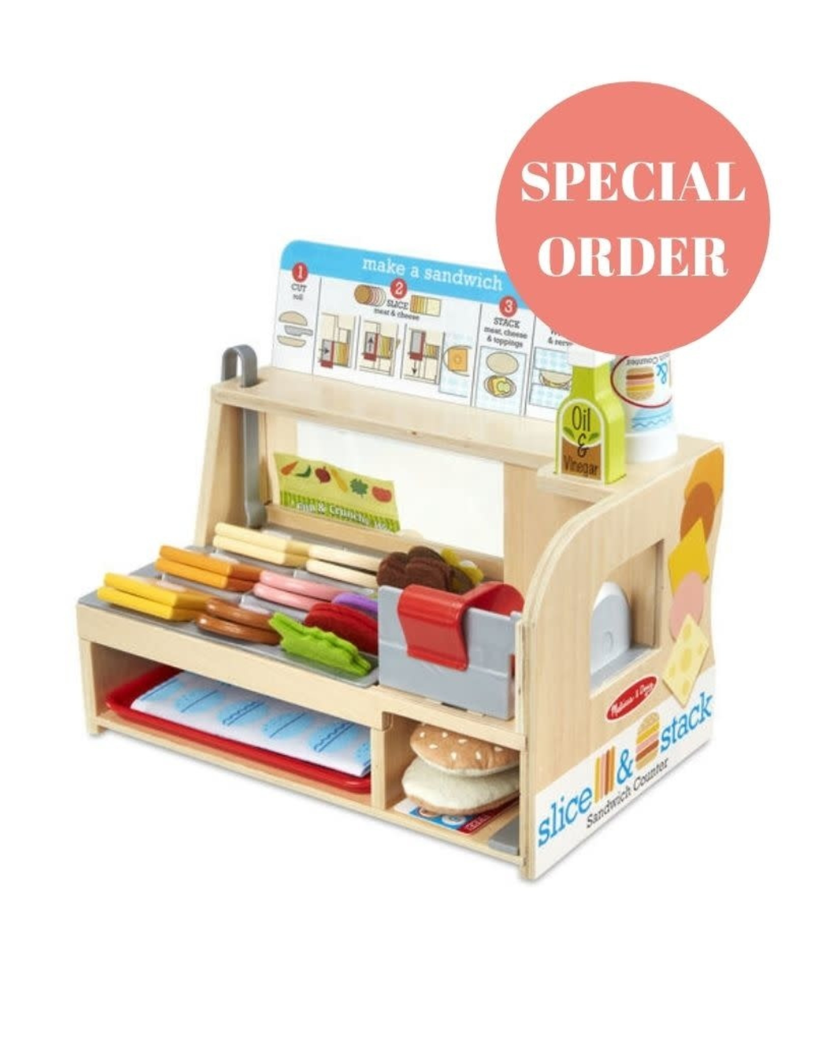 Melissa & Doug Melissa & Doug Slice and Stack Sandwich Counter