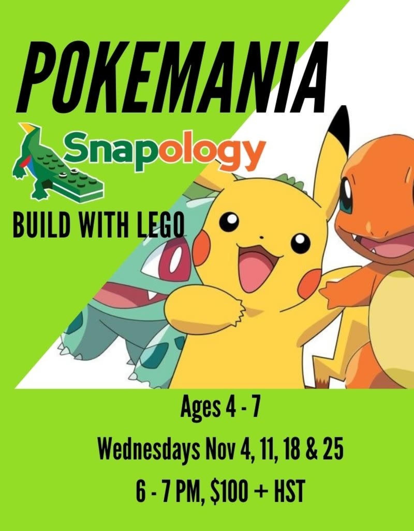 Pokemania Workshop with Snapology - Nov 4, 11, 18, 25