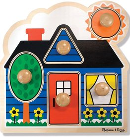 Melissa & Doug Melissa & Doug First Shapes Large Peg Puzzle