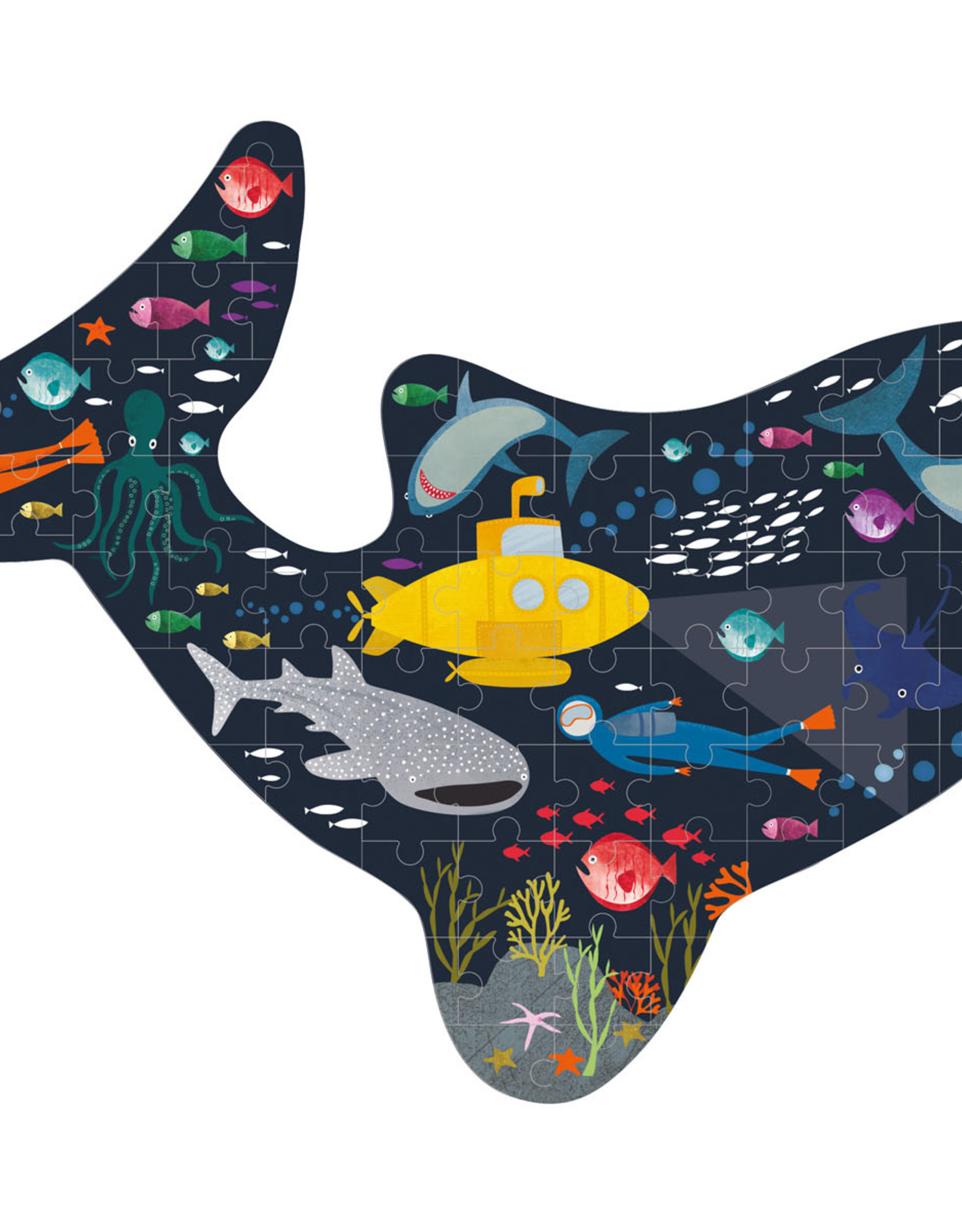 Floss & Rock Floss & Rock Deep Sea Shark Shaped Jigsaw Puzzle