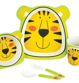 Bambooware Bamboo Fibre 5pc dinnerware set - Tiger