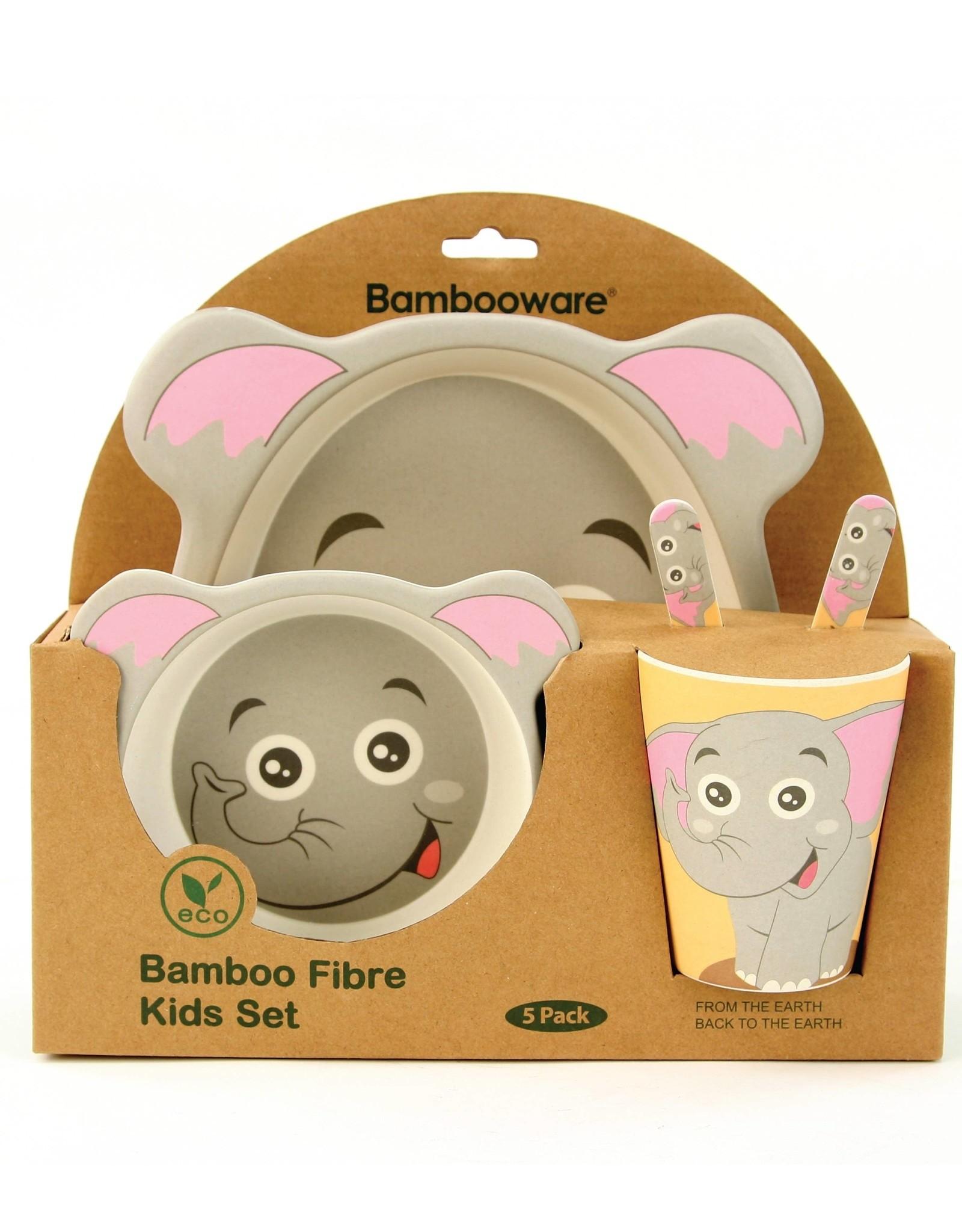 Bambooware Bamboo Fibre 5-pc Dinnerware Set - Elephant
