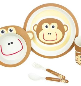 Bambooware Bamboo Fibre 5-pc Dinnerware Set - Monkey