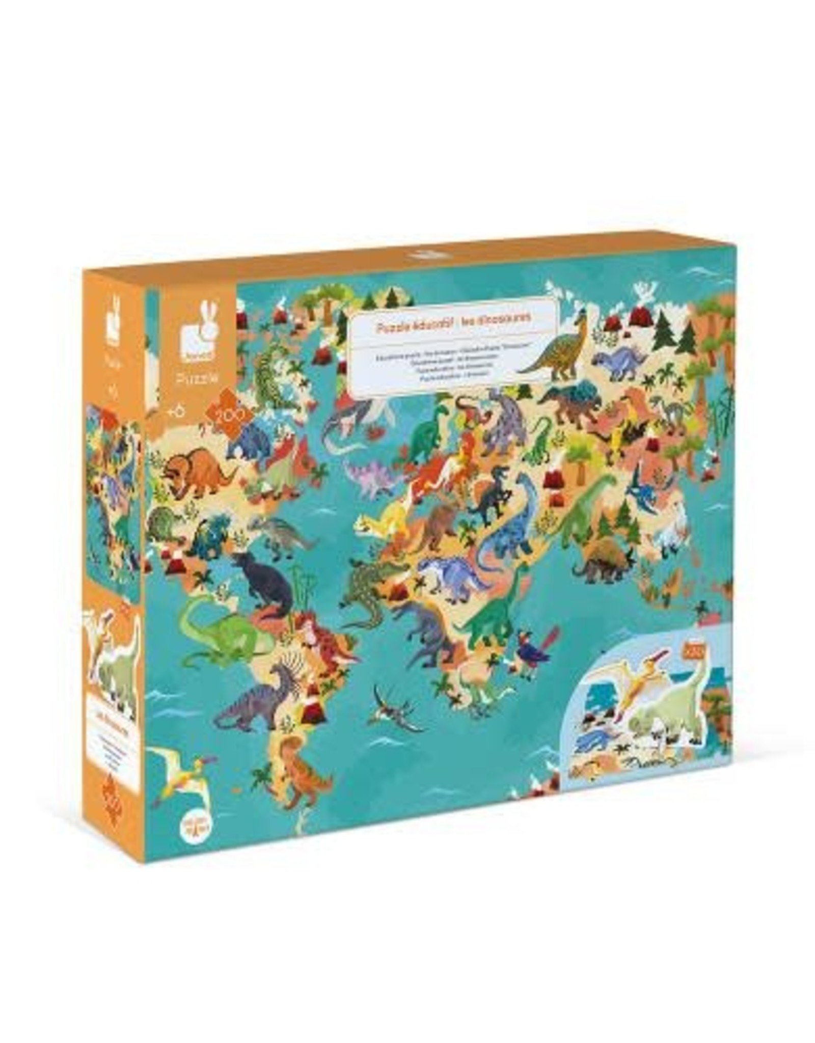 Janod Janod 3D Educational Puzzle: The Dinosaurs 200pcs
