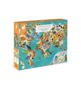 Janod Janod 3D Educational Puzzle: The Dinosaurs 200pcs