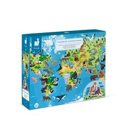 Janod Janod 3D Educational Puzzle: Endangered Animals 200pcs