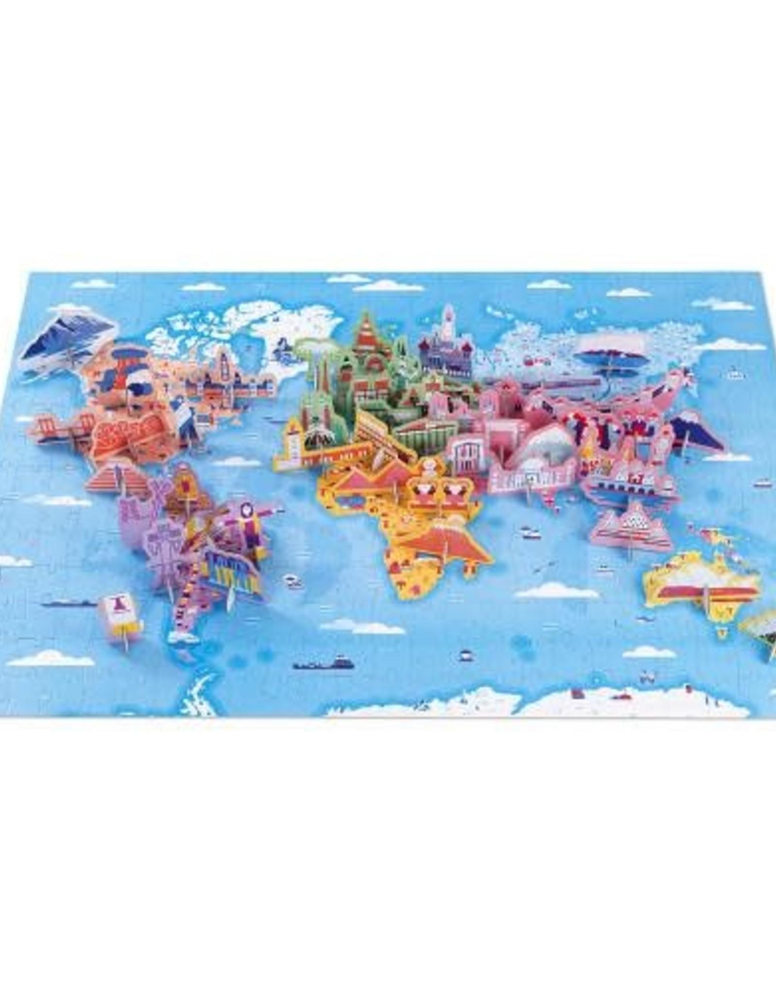 Janod Janod 3D Educational Puzzle: World Curiosities 350pcs