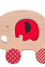Petit Collage Push Along Little Elephant