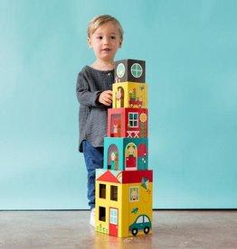 Petit Collage Peek-A-Boo Stacking Blocks Play Set