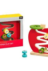 Petit Collage Wooden Apple Run Play Set