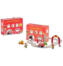 Wind Up and Go Playset - Fire Station