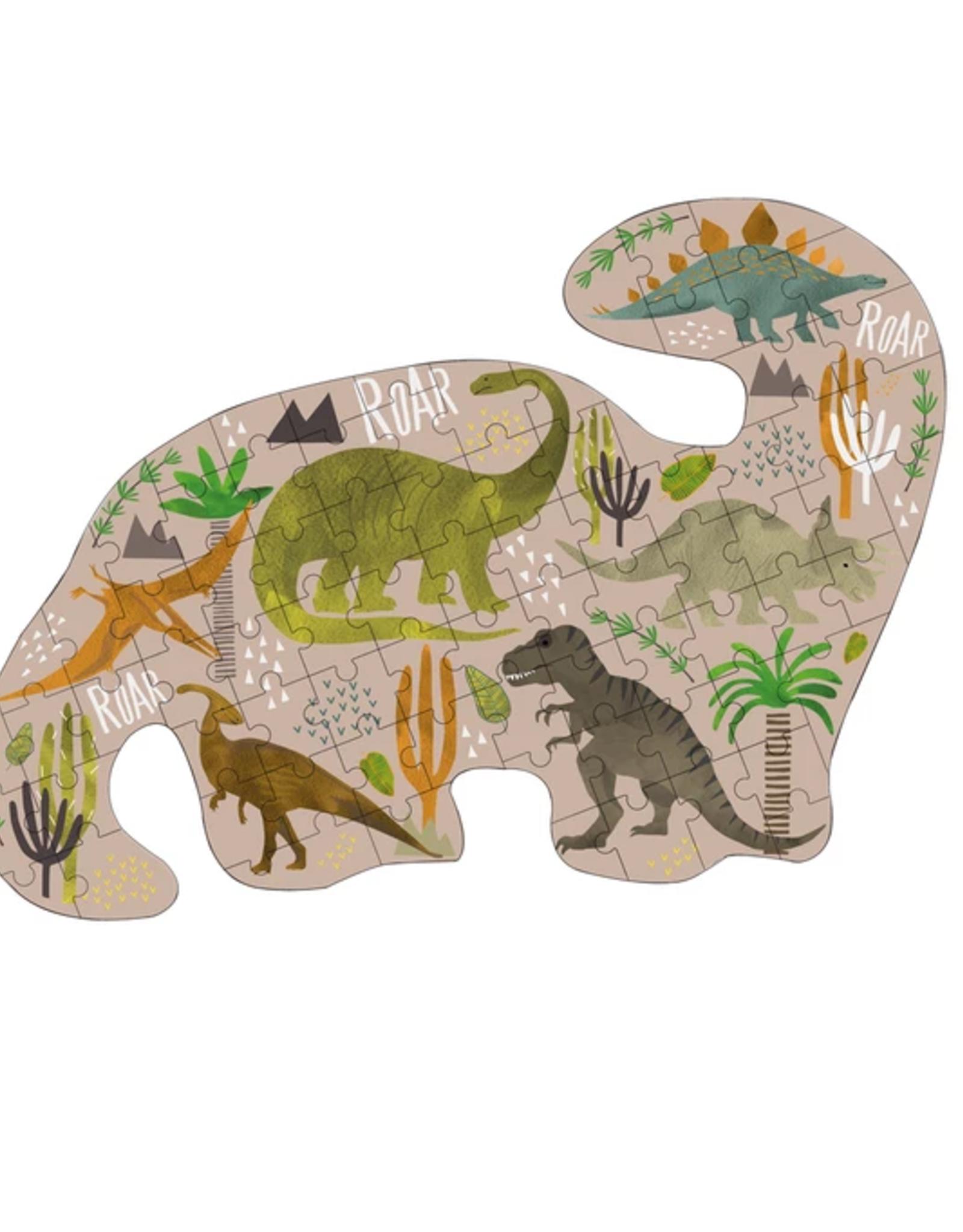 Floss & Rock Floss & Rock Dinosaur Shaped Jigsaw Puzzle