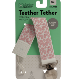 Malarkey Kids Malarkey Kids Teether Tether - Floral Pink