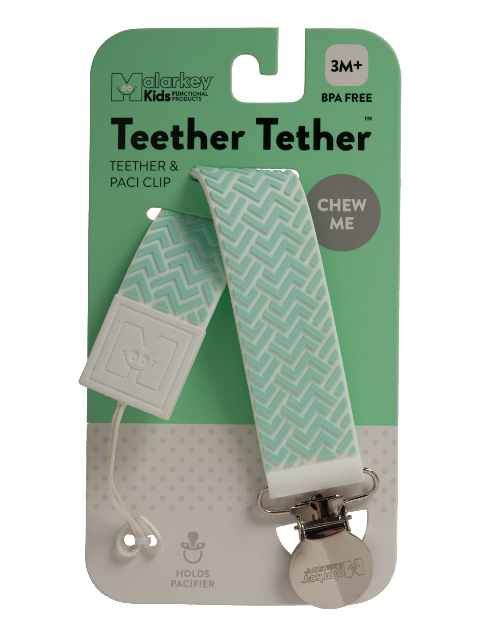 Malarkey Kids Malarkey Kids Teether Tether - ZigZag Green