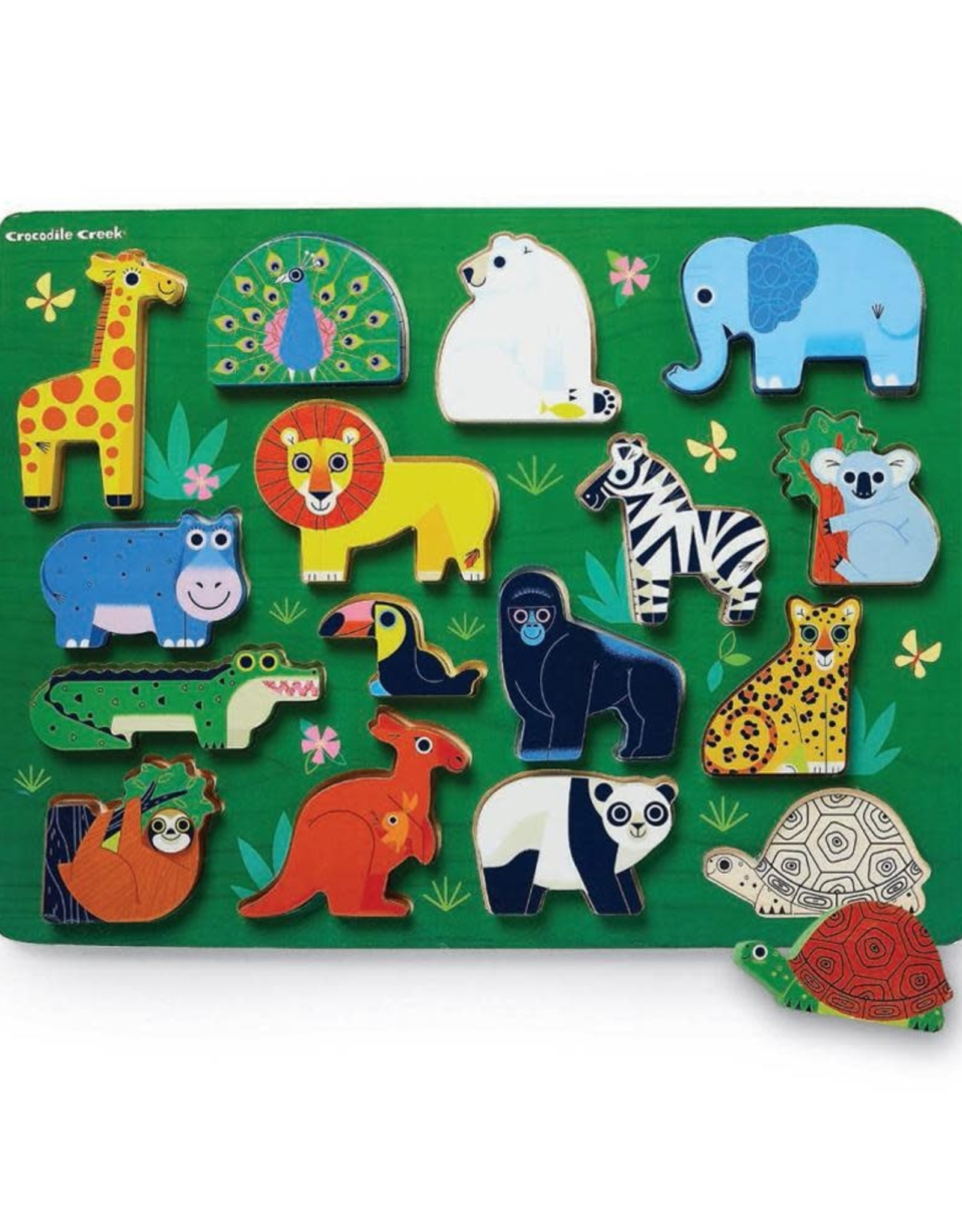 Crocodile Creek Crocodile Creek Let's Play 16 pc Puzzle  - Animals