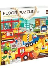 Petit Collage Construction Site Floor Puzzle - 24 pieces