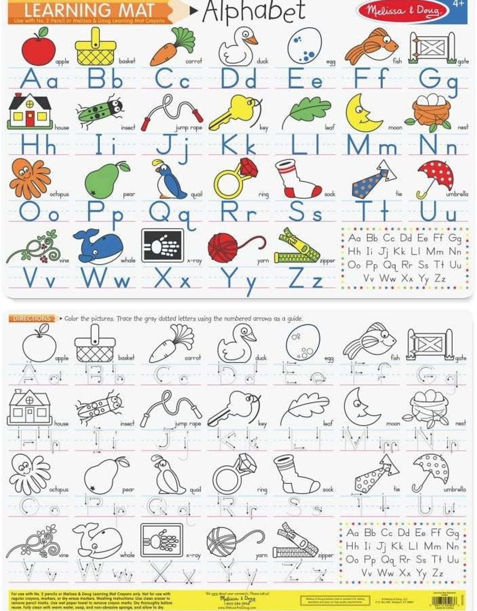 Melissa & Doug Alphabet Learning Mat