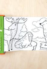 Mudpuppy Mini Coloring Roll - Animals of the World