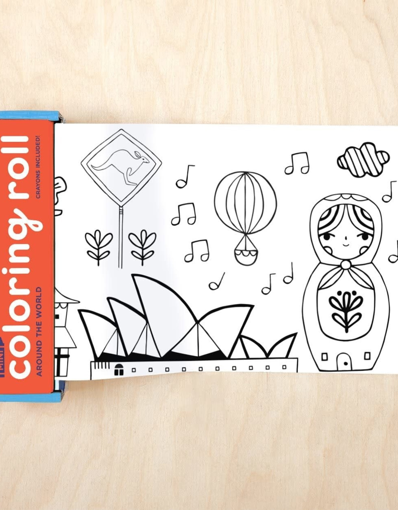 Mudpuppy Mini Coloring Roll - Around the World