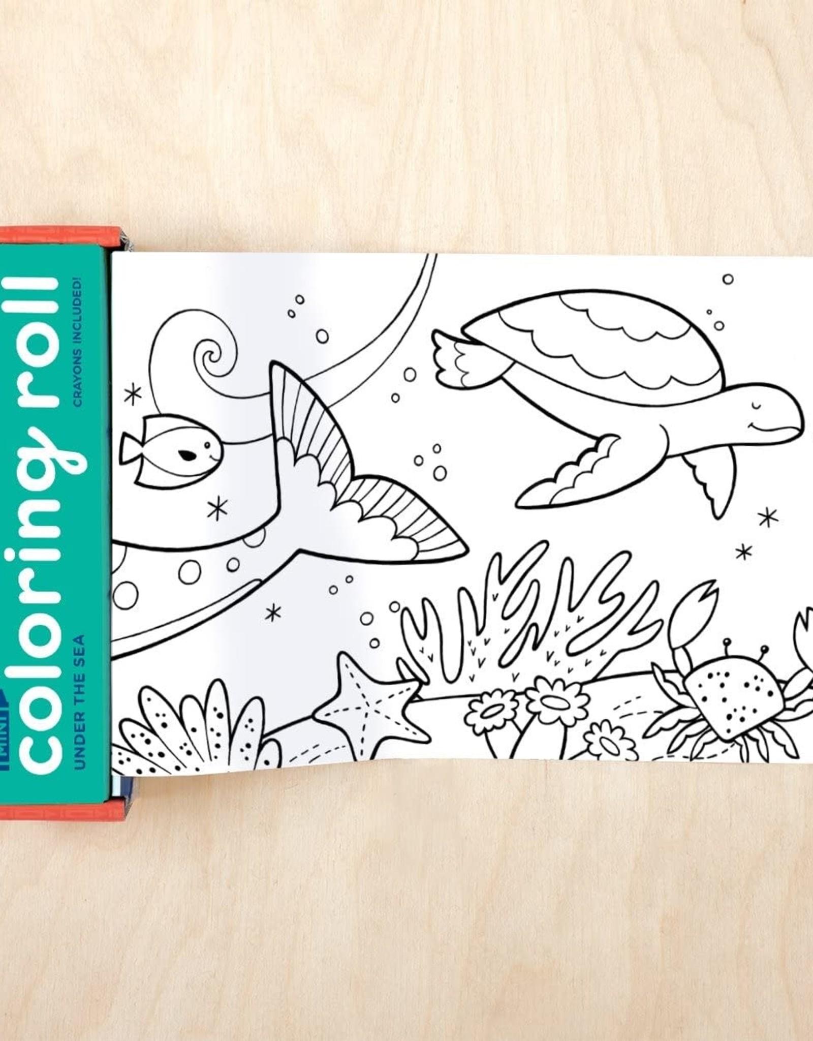 Mudpuppy Mini Coloring Roll - Under the Sea