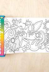 Mudpuppy Mini Coloring Roll - Unicorn Magic