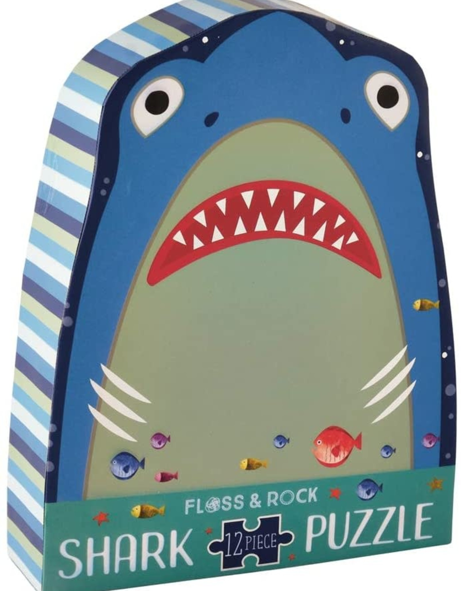 Floss & Rock 12 pc Shark Shaped Puzzle