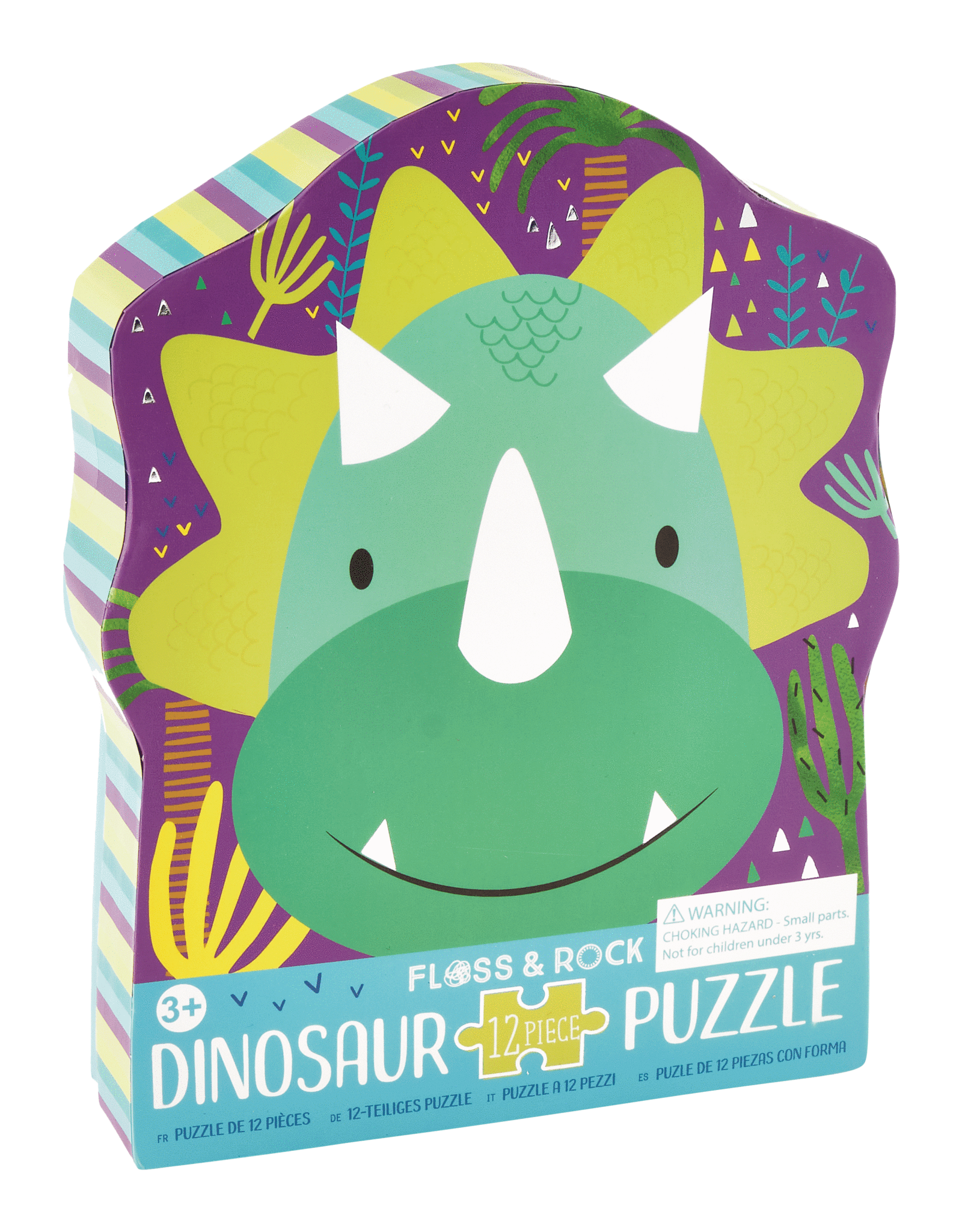 Floss & Rock 12 pc Dinosaur Shaped Puzzle