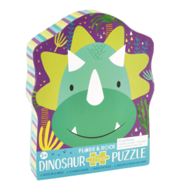 Floss & Rock 12 pc Dinosaur Shaped Puzzle