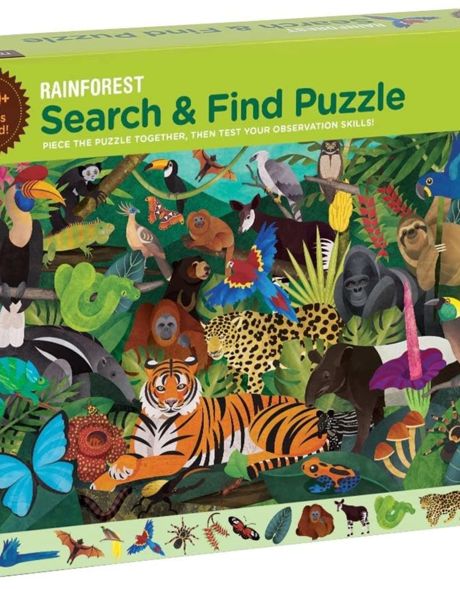Mudpuppy Search & Find Puzzle - Rainforest