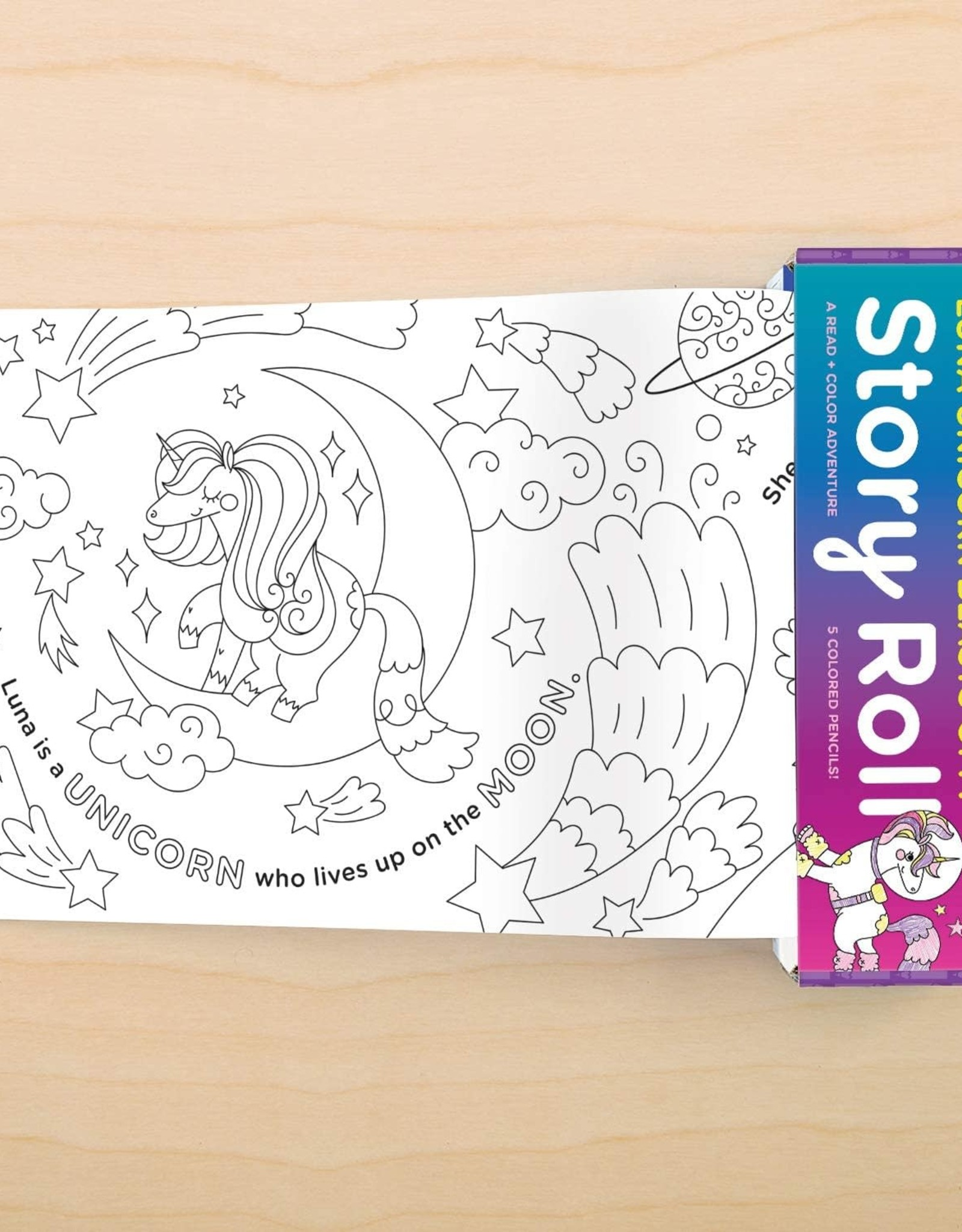 Mudpuppy Story Roll - Luna Unicorn Blasts Off!