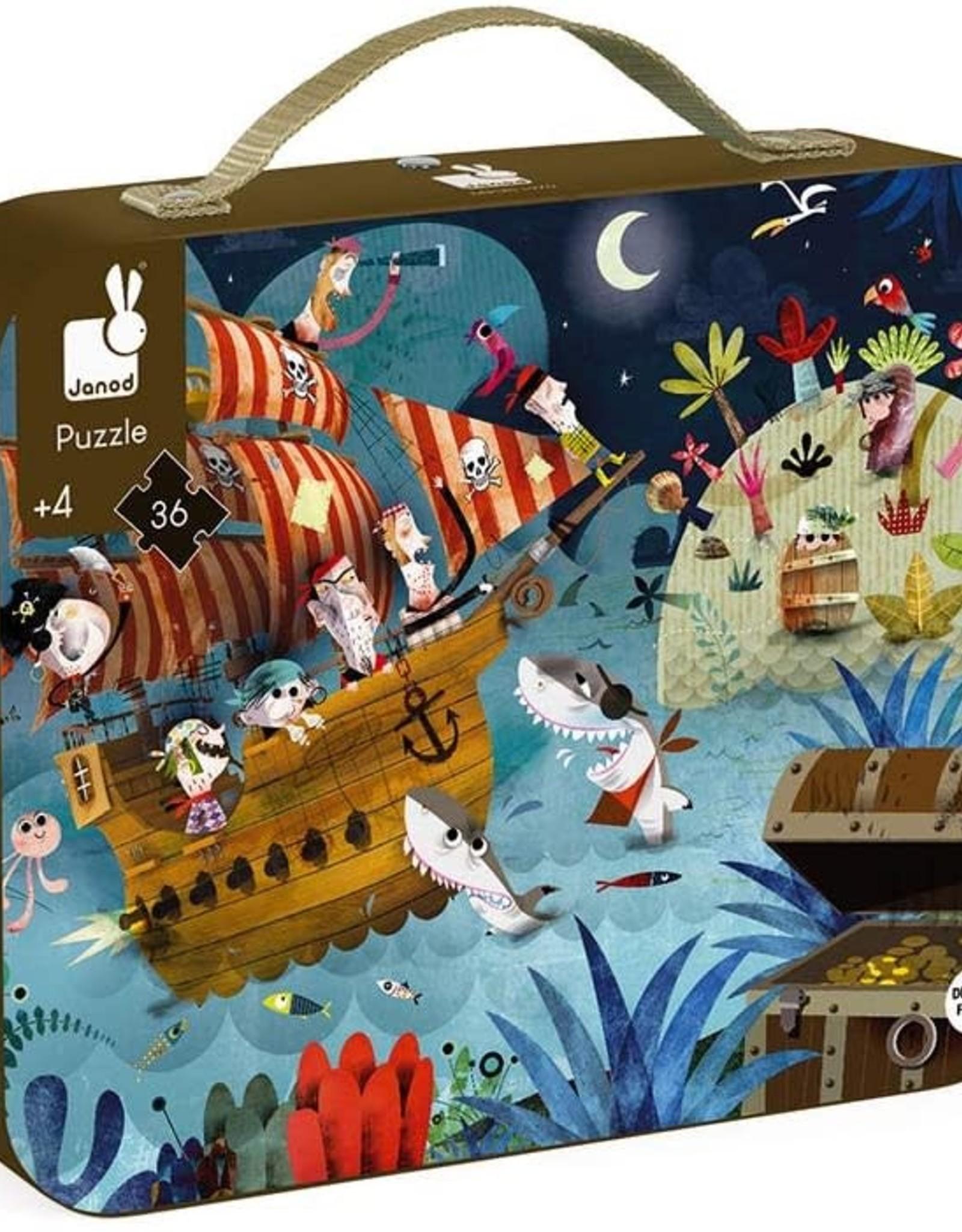 Janod Treasure Hunt - 36 pc puzzle by Janod