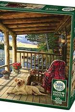 Cobble Hill Puzzles Cabin Porch - 1000 pc Puzzle