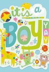 Peaceable Kingdom It's a Boy! Card