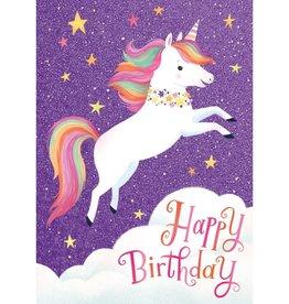 Peaceable Kingdom Flying Unicorn Glitter Card