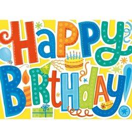 Peaceable Kingdom Happy Birthday Letters Die Cut Card