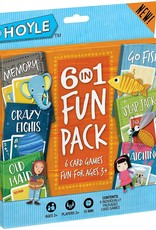 Hoyle Hoyle 6-in-1 Funpack (Crazy 8's, Go Fish, Old Maid, SLap Jack, Memory, Matching)