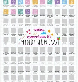 100 Mindfulness Activities Scratch Poster