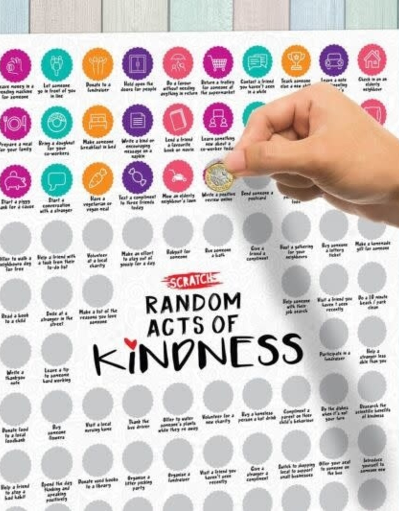 100 Random Acts of Kindness Scratch Poster