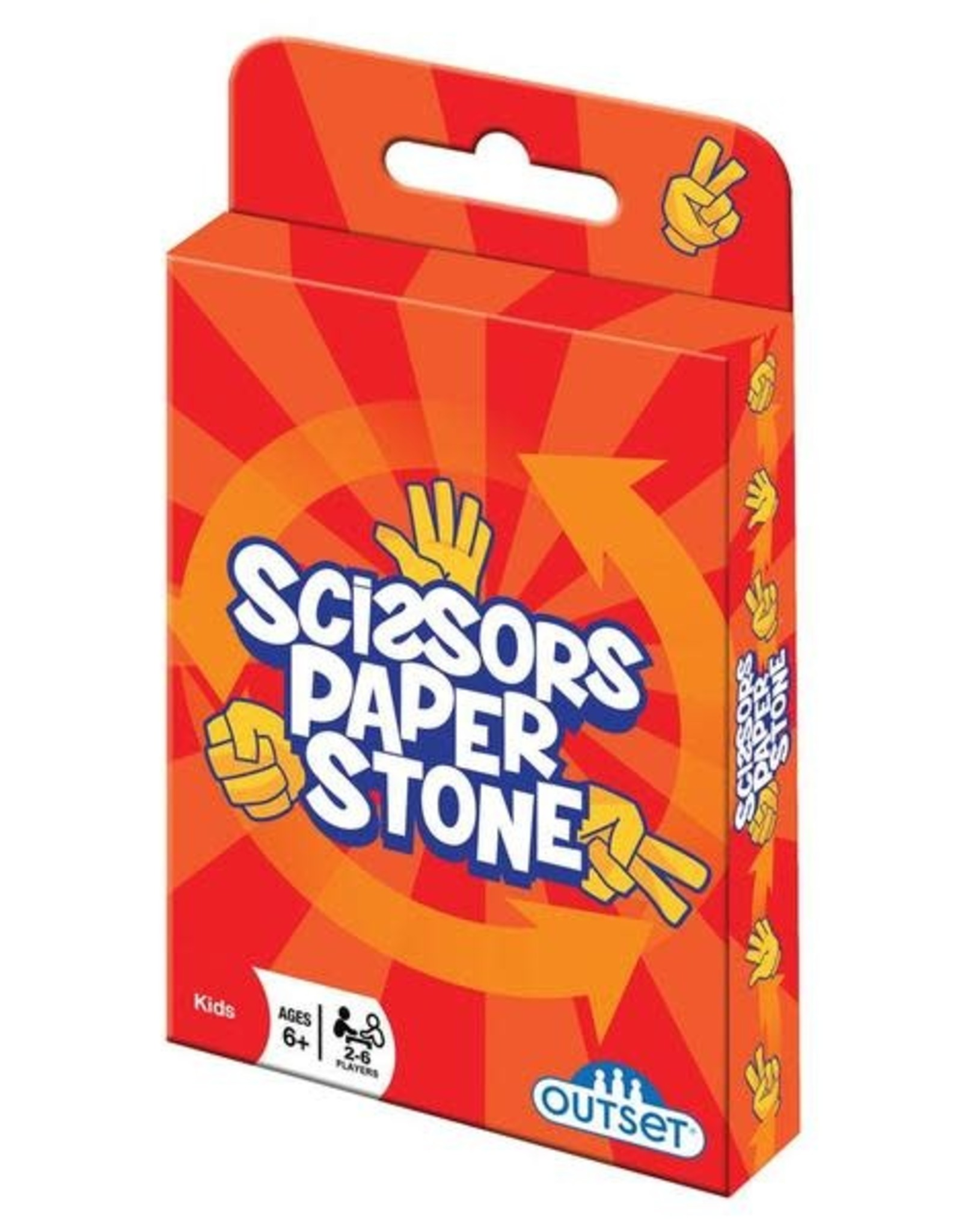 Outset Media Scissors Paper Stone Card Game