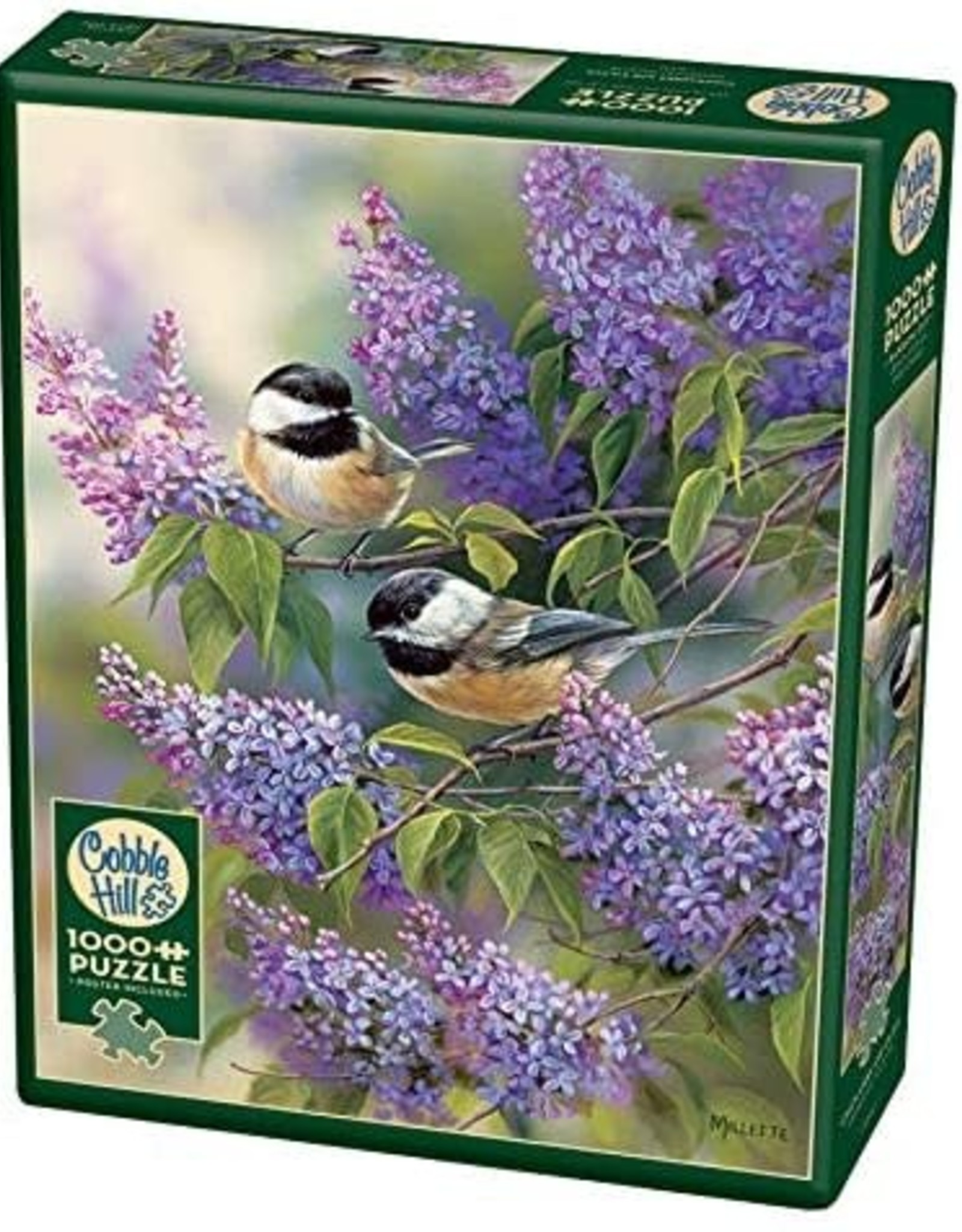 Cobble Hill Puzzles Chickadees and Lilacs - 1000 pc Puzzle