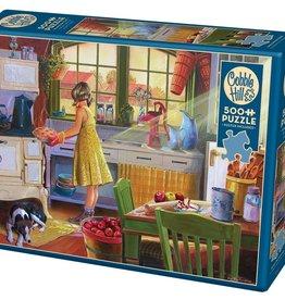 Cobble Hill Puzzles Apple Pie Kitchen - 500 piece puzzle