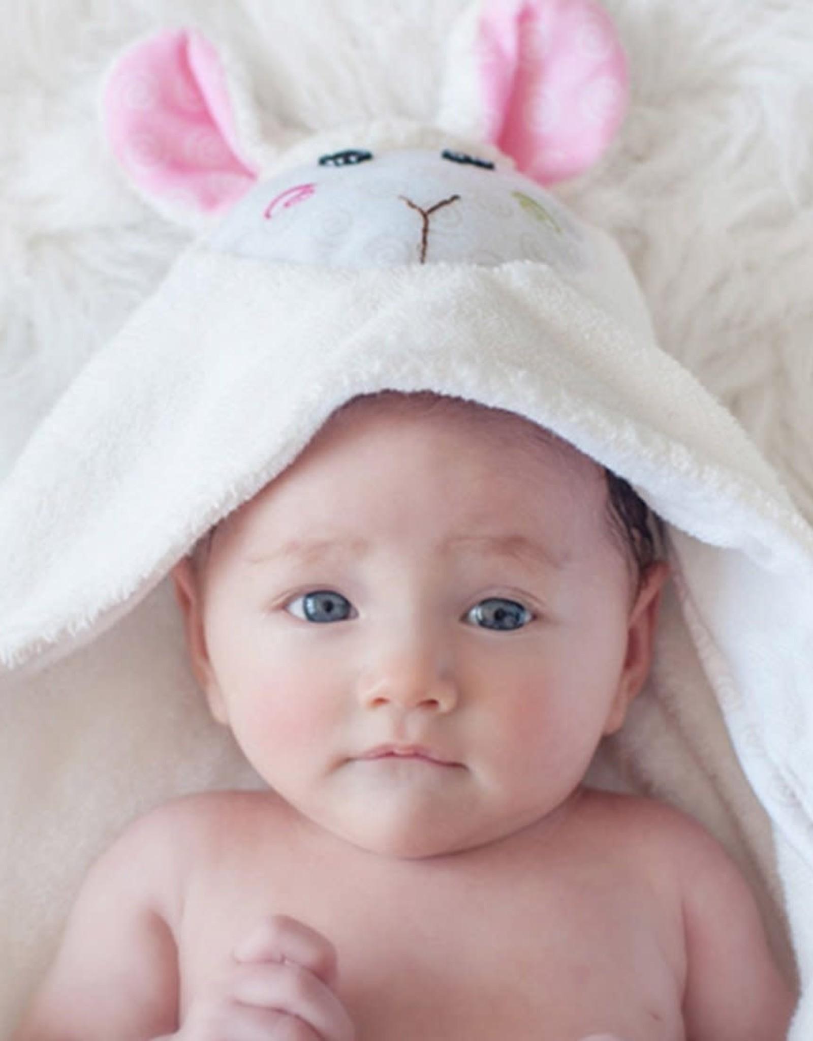 Zoocchini Baby Hooded Towel - Lamb