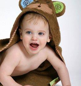 Zoocchini Baby Hooded Towel - Monkey