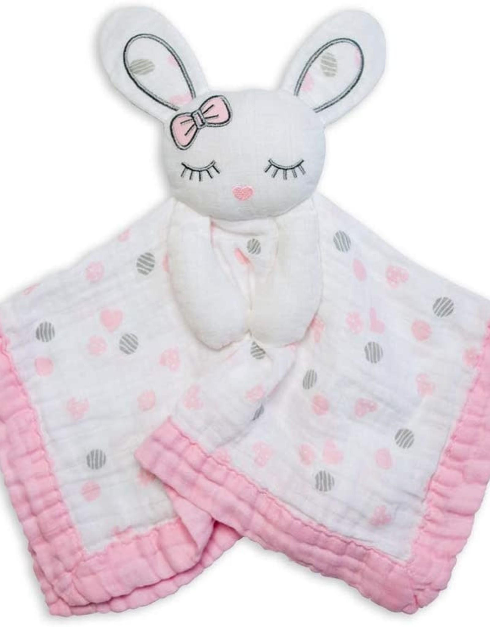 Lulujo Lulujo Muslin Cotton Lovie - Bunny