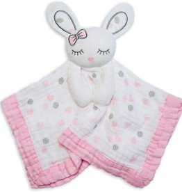 Lulujo Lulujo Muslin Cotton Lovie - Bunny