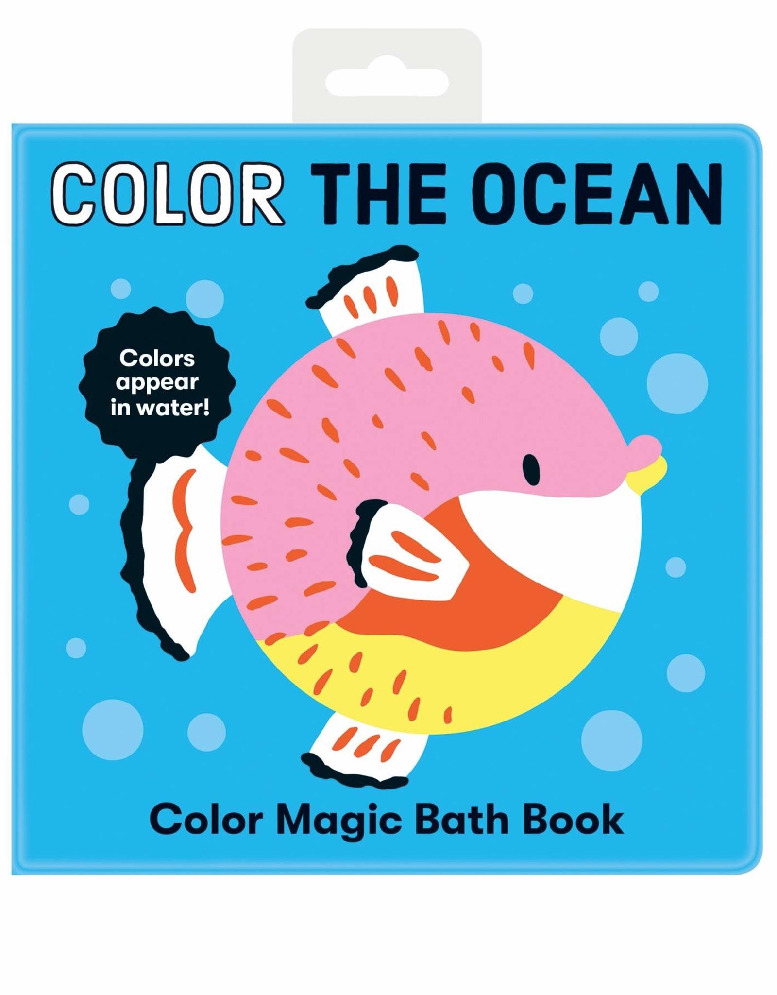 Mudpuppy Color the Ocean Magic Bath Book