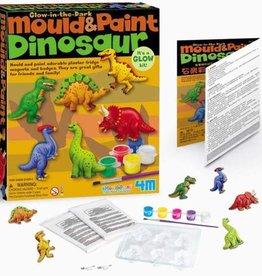 4M Glow in the Dark Dinosaur Mould & Paint Kit