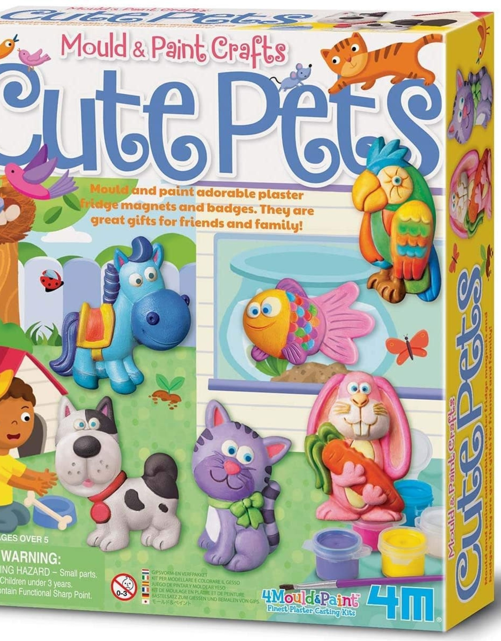 4M Cute Pets Mould & Paint Kit