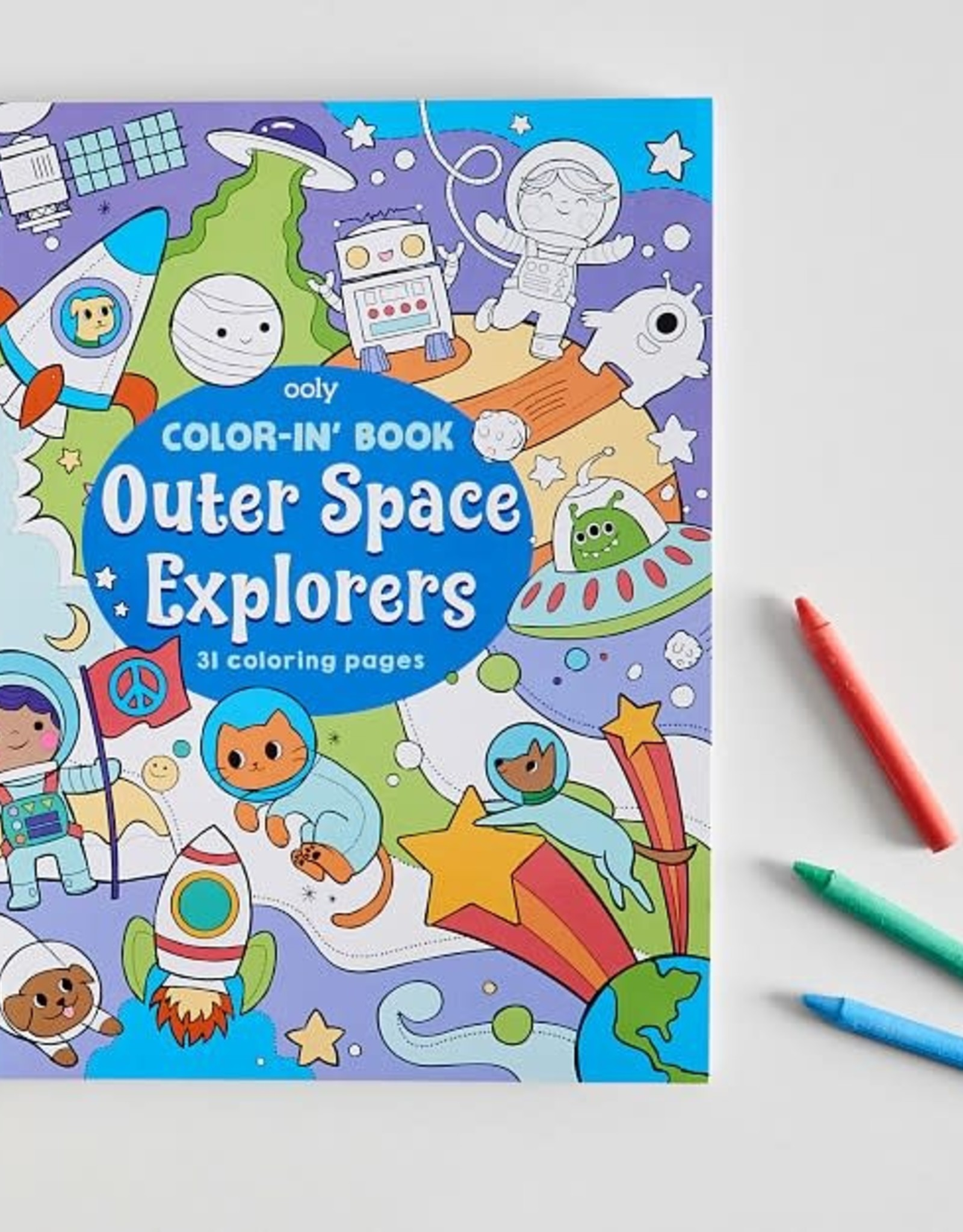 Ooly Outer Space Explorers Colouring Book