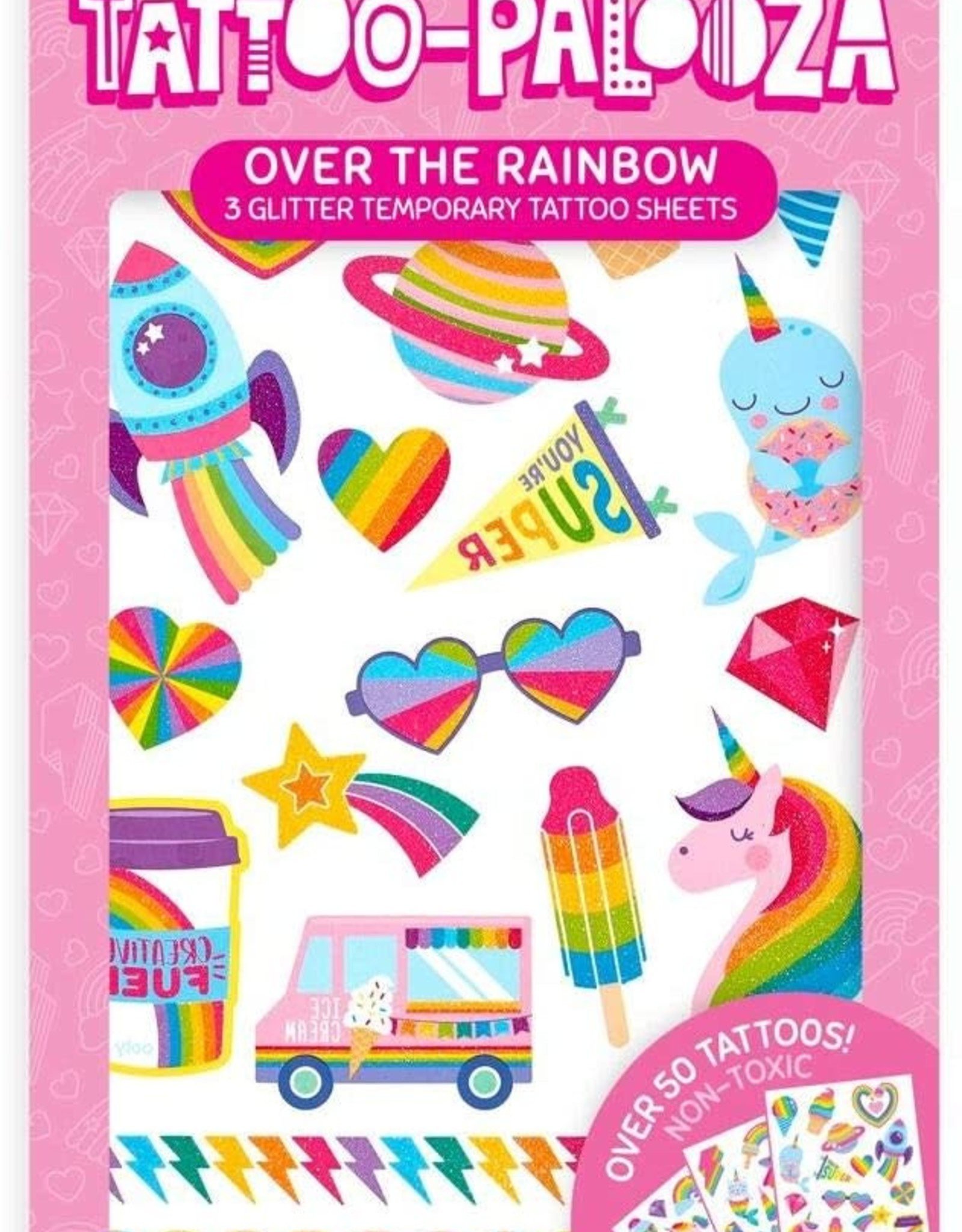 Ooly Tattoo Palooza Temporary Tattoos - Over the Rainbow